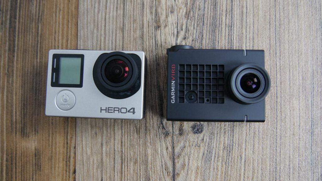 links: GoPro Hero 4, rechts: Garmin VIRB Ultra 30