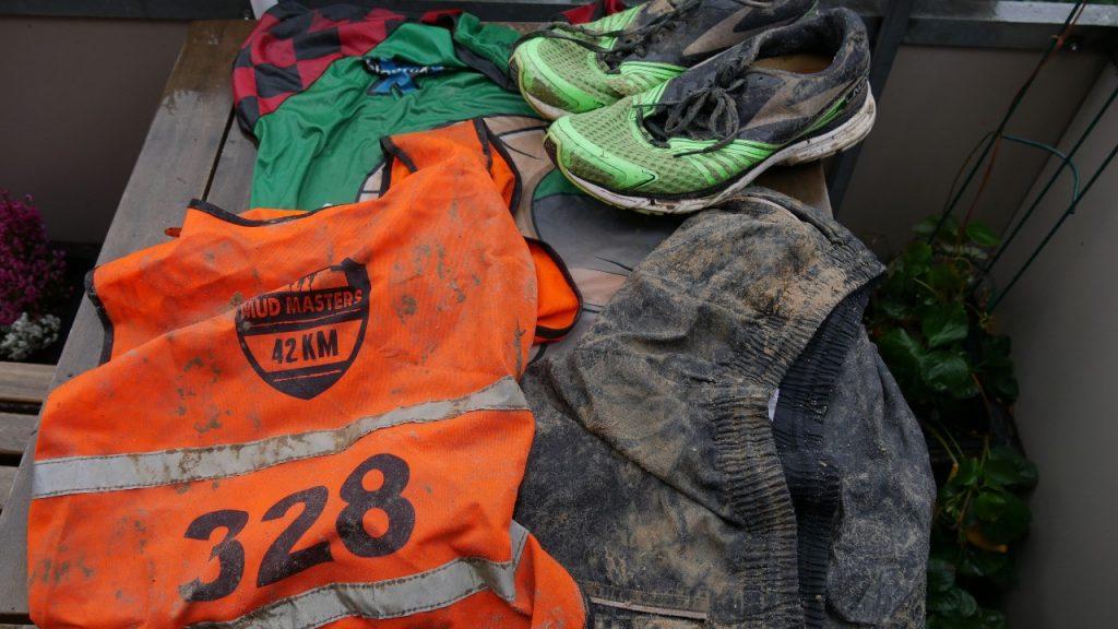 Kleidung nach dem Mud Masters Run