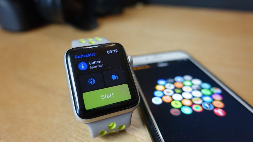 Runtastic-App auf der Apple Watch Series 2